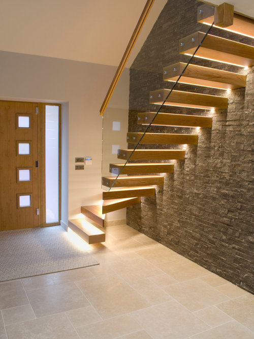 floating staircase design ideas remodels photos - Stairs Design Ideas
