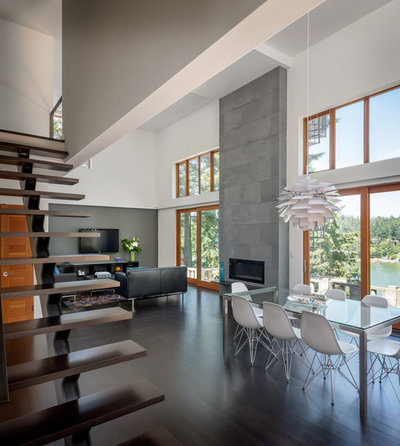 Contemporary Staircase by risa boyer architecture