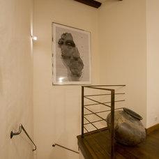 Mediterranean Staircase by Studio Santalla, Inc