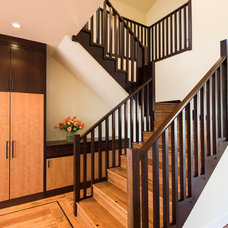 Contemporary Staircase by Barbra Bright Design