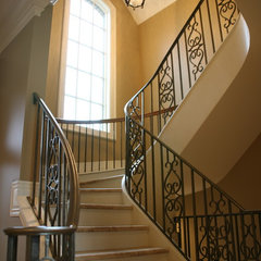 traditional staircase by Schill Architecture LLC