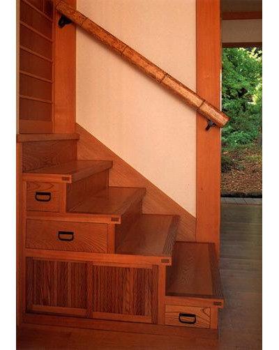 Asian Treppe von Donald K. Olsen, AIA Architects