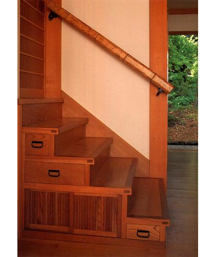 Asian Staircase by Donald K. Olsen, AIA Architects