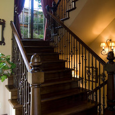 Traditional Staircase by Francis Garcia Architect