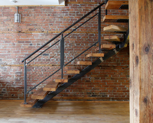 Industrial Staircase Design Ideas Remodels Amp Photos