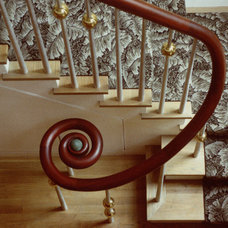Traditional Staircase by Billinkoff Architecture PLLC