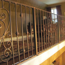 Traditional Staircase by MSW Ornamental Fabricators, Inc.