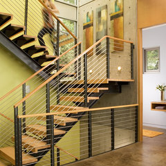contemporary staircase by Coates Design Architects Seattle