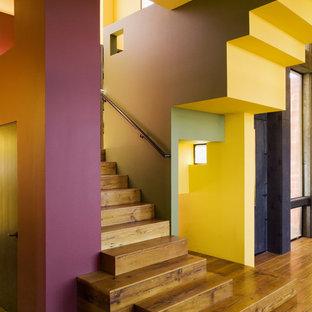 Aménagement d'un escalier contemporain.