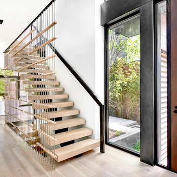 Double-Height Entry Foyer Looking into Courtyard