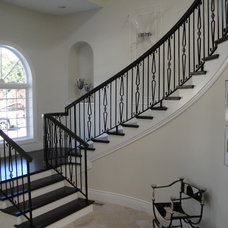 Traditional Staircase by Stair Design  /  Iron Design