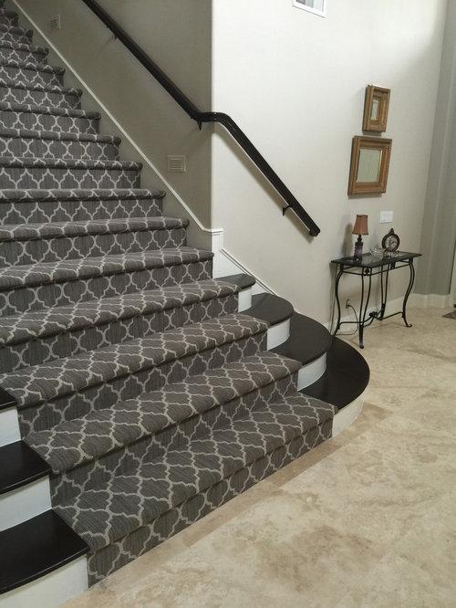 Photos et id es d co d 39 escaliers romantiques avec des for Moquette chic