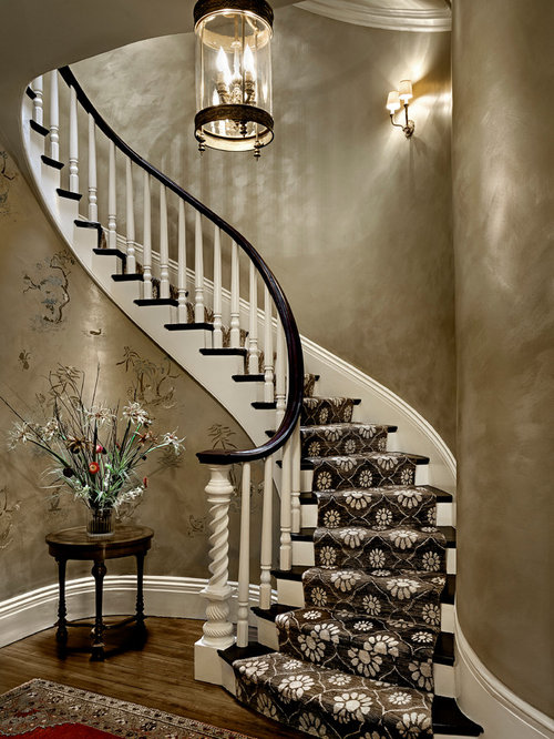 Curved stair runner home design ideas pictures remodel for Arched staircase