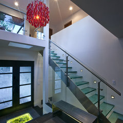 modern staircase by Faust Construction