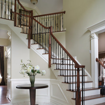 Dramatic Entry Way with Staircase