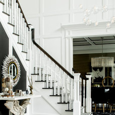 Contemporary Staircase by Karen B Wolf Interiors, Associate ASID