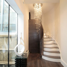 Contemporary Staircase by Show Home Designers