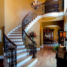 Traditional Staircase by Brown Wegher Construction