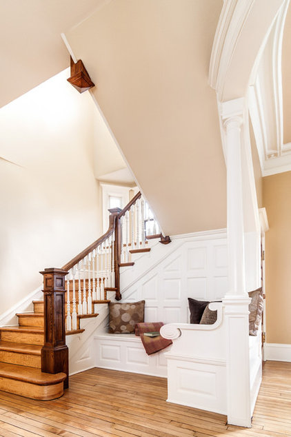traditional staircase by Elise Moore Design