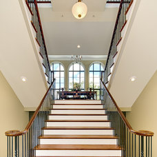 Contemporary Staircase by Priester's Custom Contracting, LLC