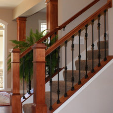 Traditional Staircase by Howard Homes, Inc.