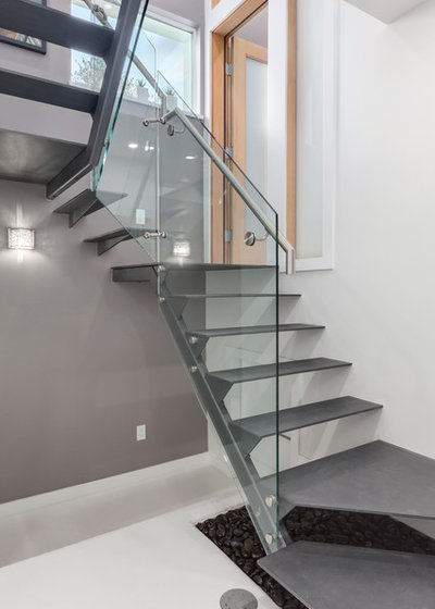 Contemporary Staircase by Lanefab Design/Build