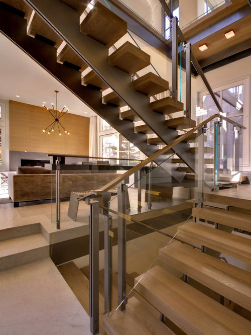 open risers staircase home design ideas pictures remodel