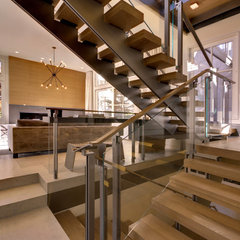 contemporary staircase by E CUMMINGS ARCHITECT PC