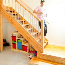 Contemporary Staircase by mango design co