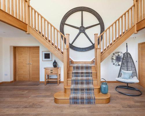 Country Staircase Design Ideas, Renovations & Photos