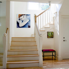 Transitional Staircase by WHIPPLE | CALLENDER ARCHITECTS