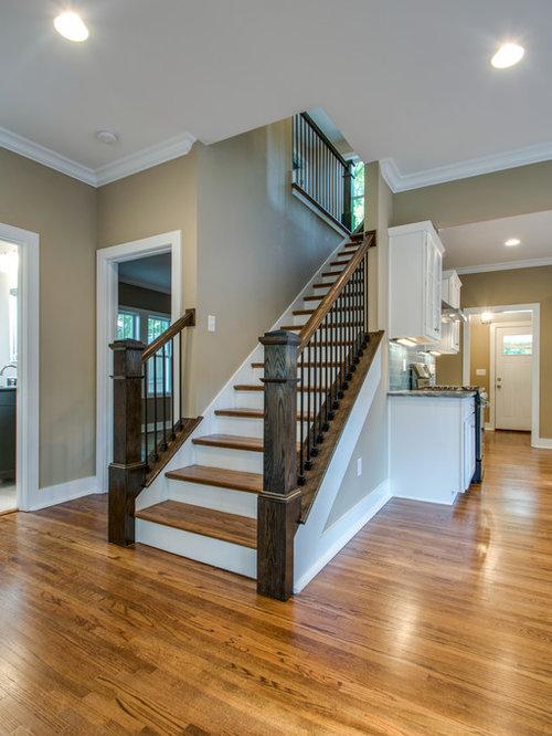 rustikale treppen in nashville ideen design bilder houzz. Black Bedroom Furniture Sets. Home Design Ideas