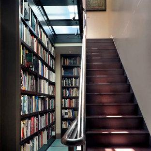 Aménagement d'un escalier contemporain de taille moyenne.