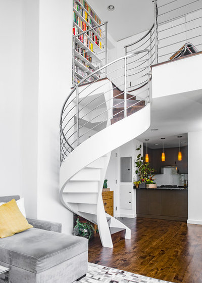 Contemporary Staircase by James Wagman Architect, LLC