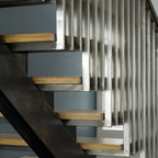 The Line House Modern Staircase Kansas City By