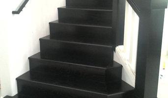 Ebonized oak stair case
