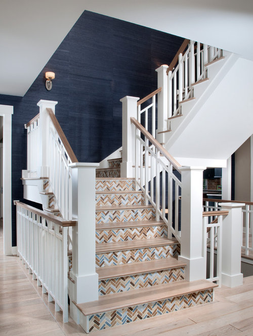 Tile Stair Riser Ideas Pictures Remodel And Decor