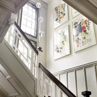 Idéer för vintage trappor, med räcke i trä