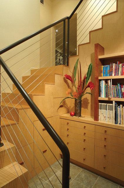 Eclectic Staircase by HartmanBaldwin Design/Build