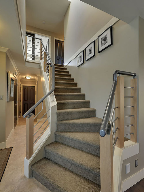 Eclectic Staircase Cork Inspiration for an eclectic staircase remodel