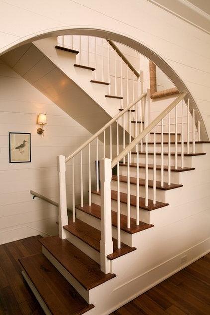 Eclectic Staircase by Thomas Thaddeus Truett Architect