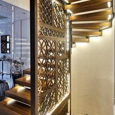 Contemporary Staircase by Erol Sevimlisoy Emrah Sevimlisoy SevimliMimarlik