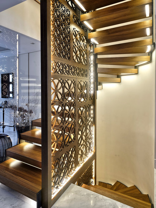 Gypsum Partition Of Stair : Stair partition houzz