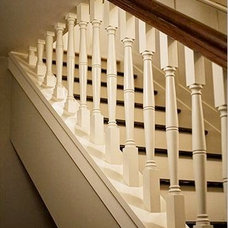 Traditional Staircase by Eco+Historical, Inc.