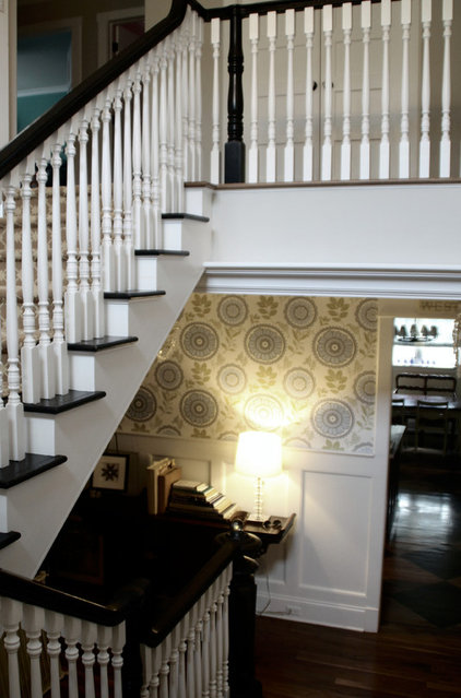 Transitional Staircase by & Design