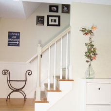 Transitional Staircase by Wind and Willow Home