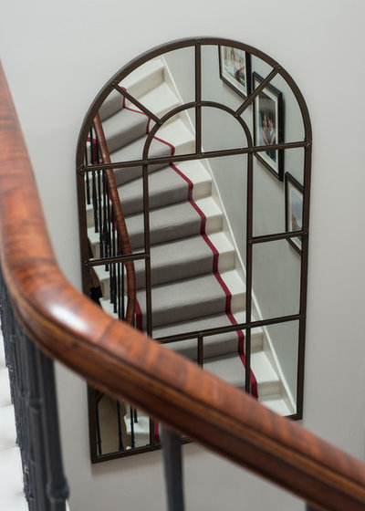 Transitional Staircase by Lally Walford Interiors