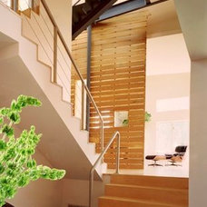 Contemporary Staircase by Edward I. Mills & Associates, Architects PC