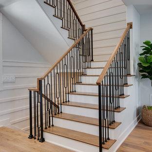 Inredning av en lantlig trappa