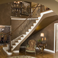 Contemporary Staircase by Modern Design Cabinetry